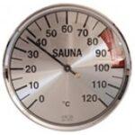 Thermometer voor sauna in macrolon behuizing