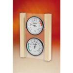 Gecombineerde thermo hygrometer op glazen plaat