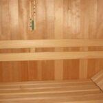 Sauna rugleuning Abachi 2 lats vlak