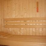 Sauna rugleuning Abachi 3lats vlak