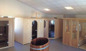 Showroom Sentjens Saunabouw te Molenaarsgraaf