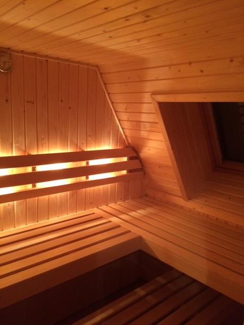 Sauna met Velux raam