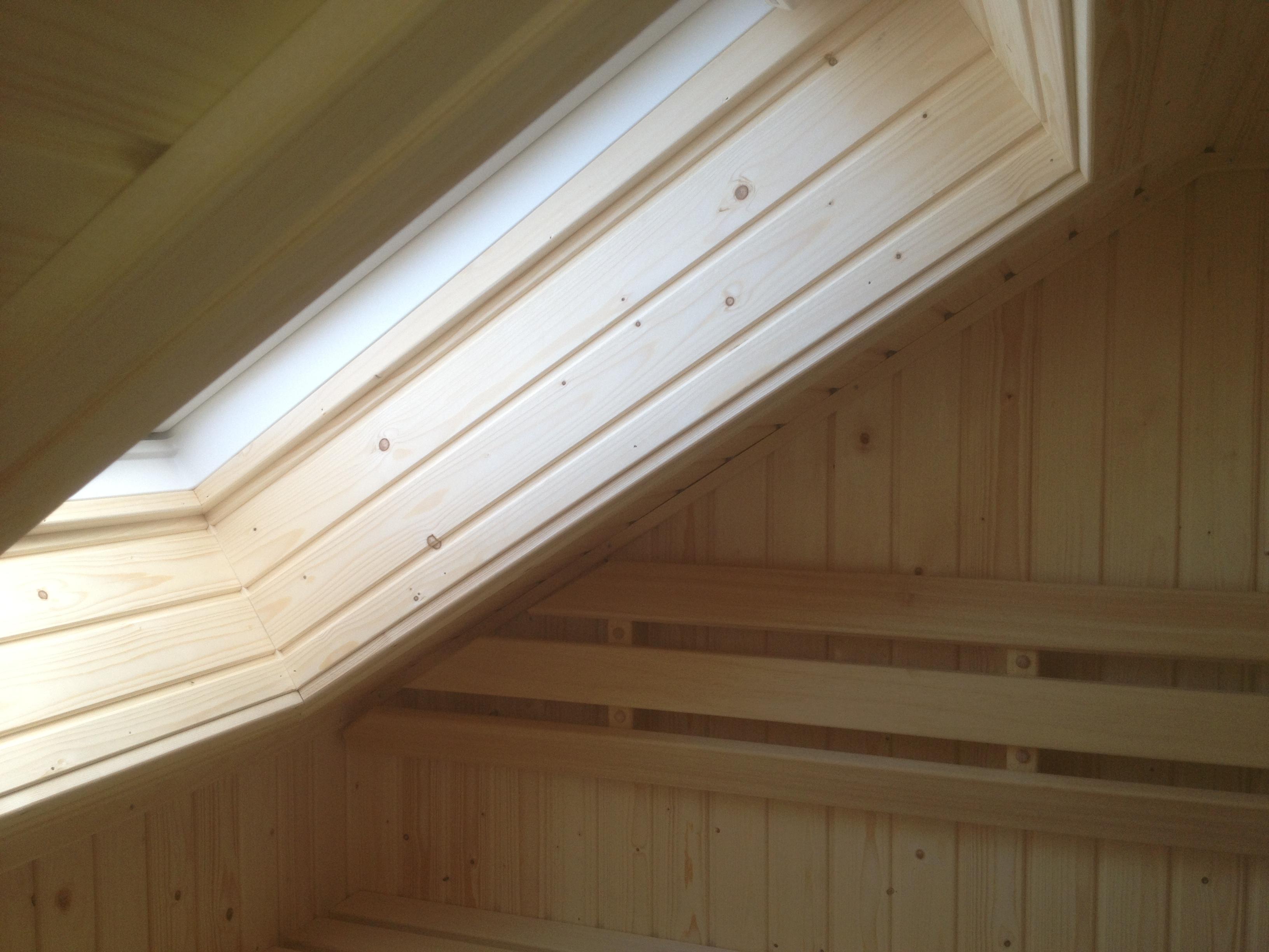 Velux venster in sauna