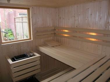 Sauna met venster