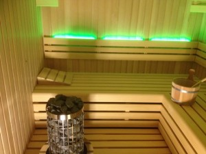 Sauna interieur met LED