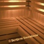 Saunabanken met luxe massieve afronding